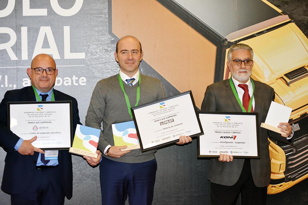 Premio Calidad y Servicio KONI Amortiguadores Suspensión 2019